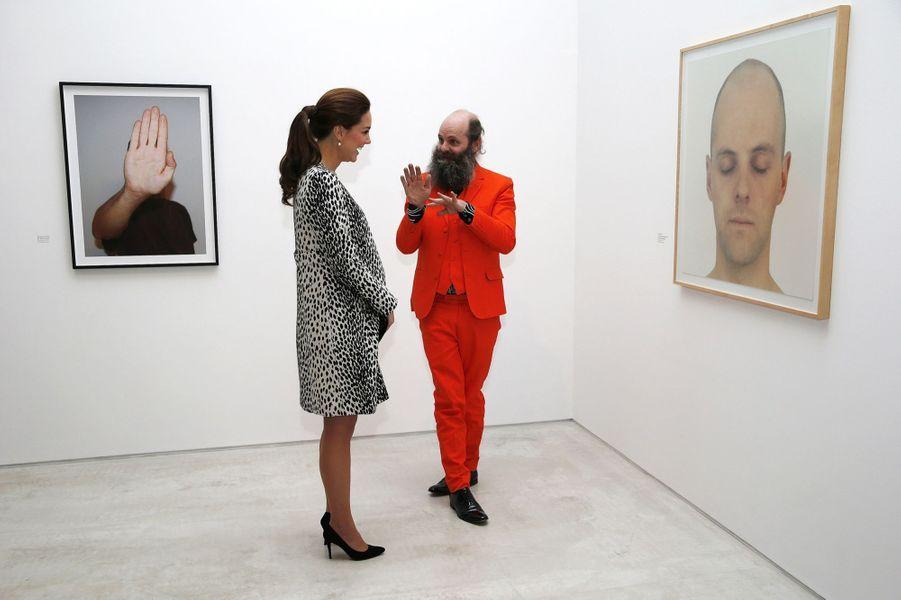 La duchesse de Cambridge, née Kate Middleton, au musée Turner Contemporary de Margate, le 11 mars 2015