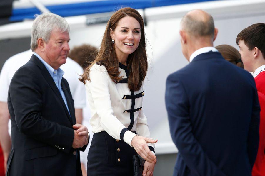 La duchesse Catherine de Cambridge à Portsmouth, le 20 mai 2016