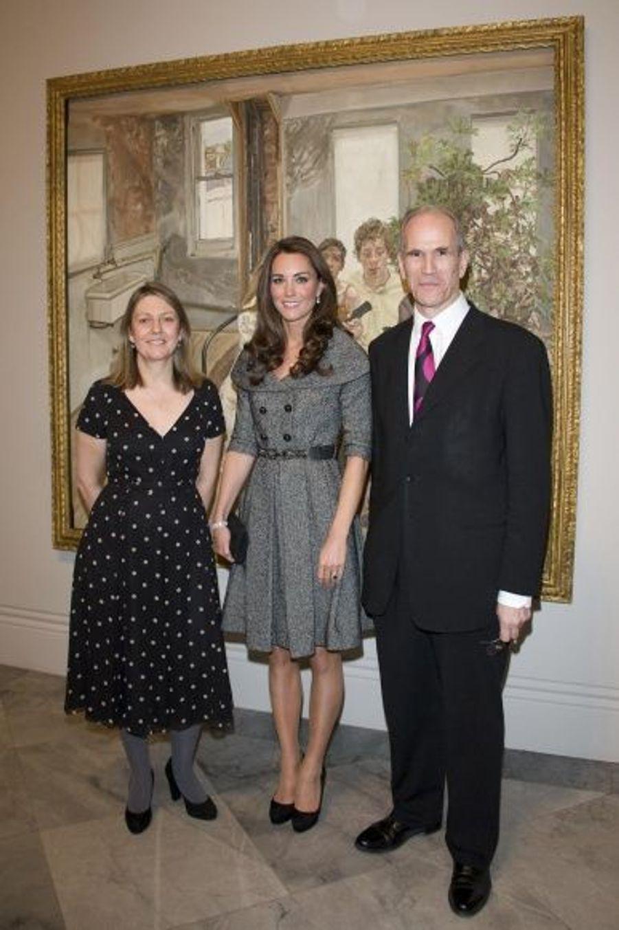 Avec la commissaire de l'exposition Sarah Howgate et Sandy Nairne.