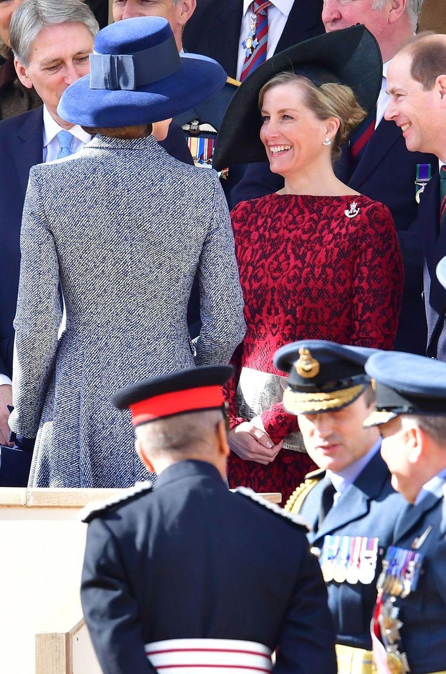 La duchesse Catherine de Cambridge et la comtesse Sophie de Wessex à Londres le 9 février 2017