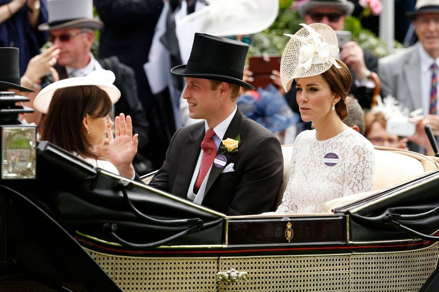 Le prince William et la duchesse Catherine de Cambridge au Royal Ascot, le 15 juin 2016