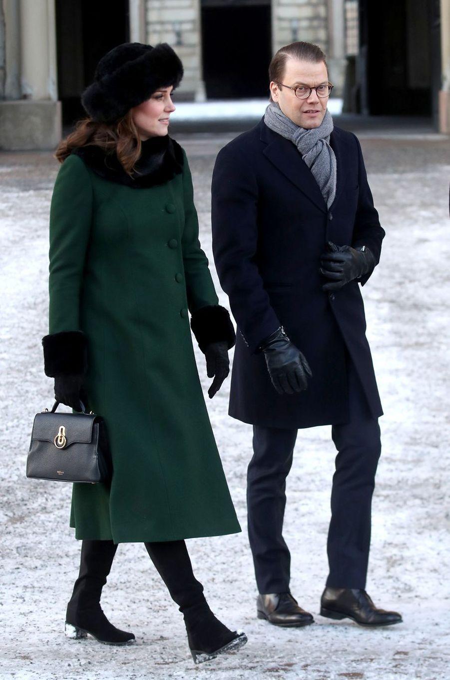 La duchesse de Cambridge en Suède, le 30 janvier 2018
