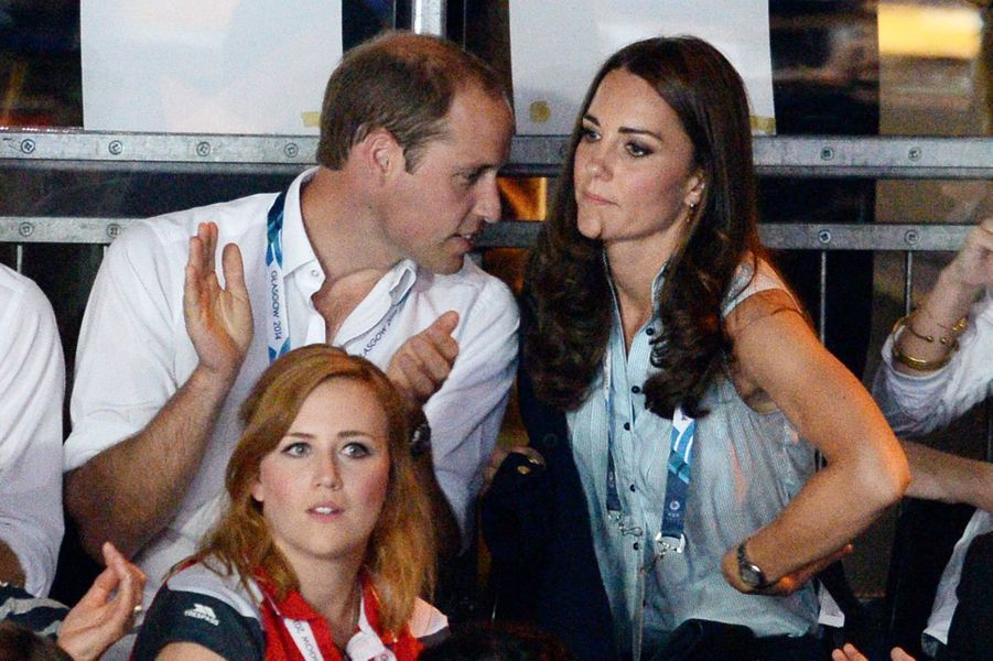 Kate, William et Harry, fou rire en tribunes