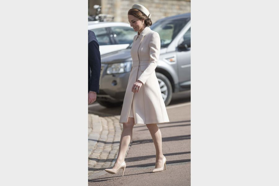 La duchesse de Cambridge, née Kate Middleton, à Windsor, le 16 avril 2017.