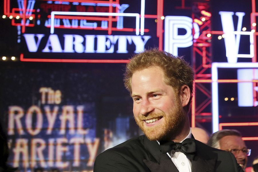 Le prince Harry au Albert Hall à Londres, le 13 novembre 2015