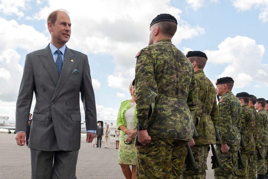 Le prince Edward à Regina, le 22 juin 2016
