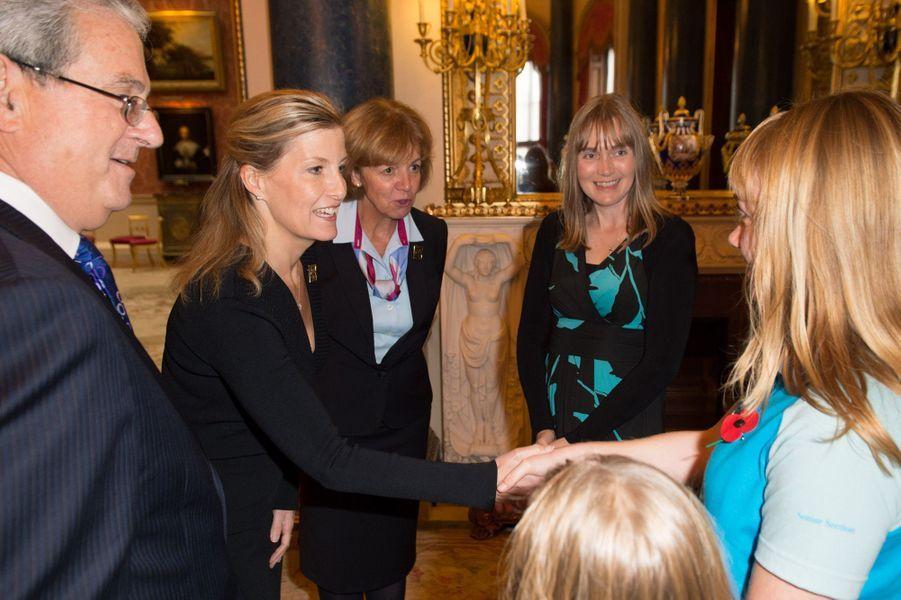 La comtesse Sophie guide les scouts à Buckingham