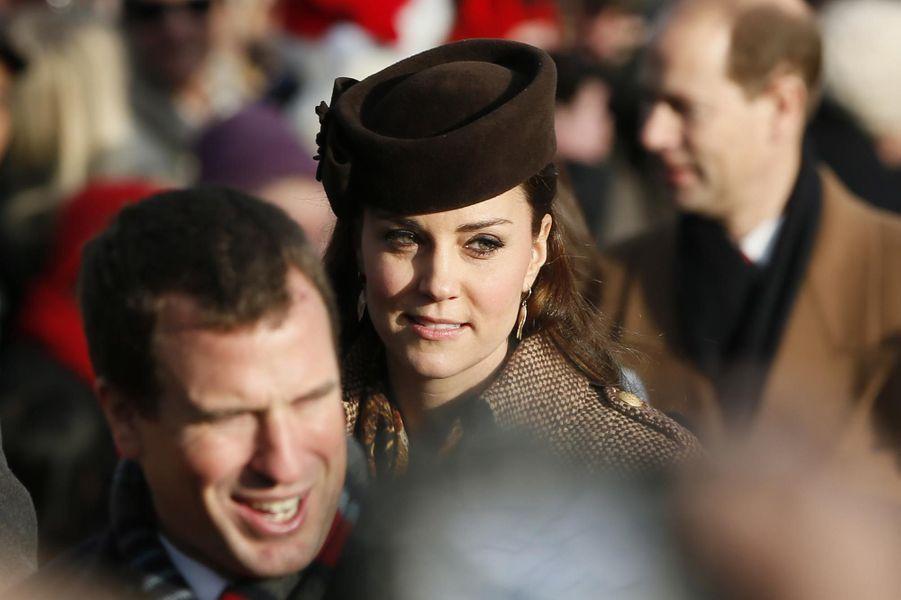 La famille royale britannique à la messe de Noël