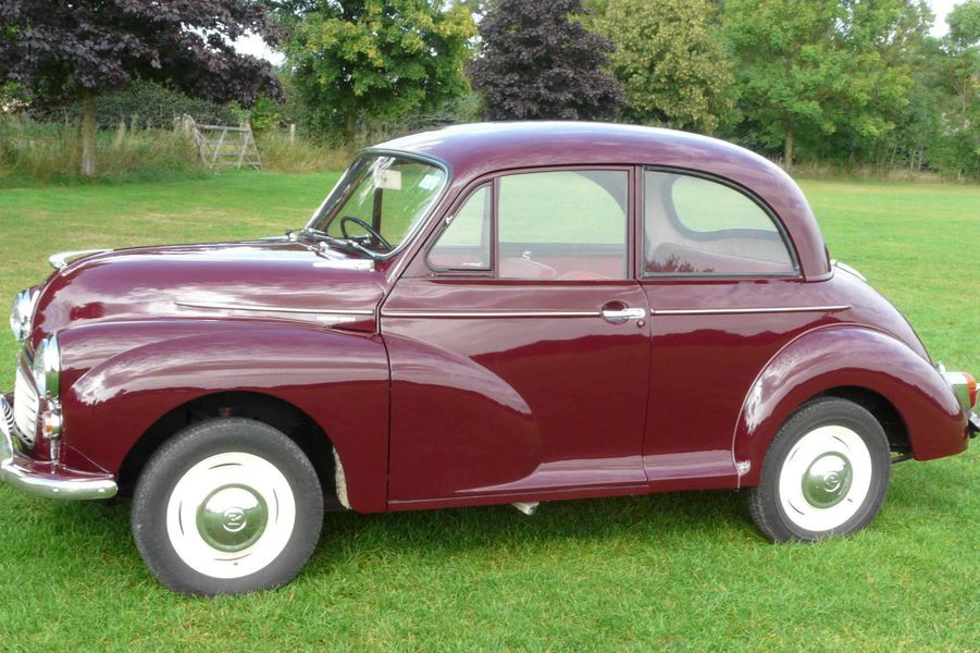 La première voiture de Sophie Rhys-Jones, une Morris Minor de 1968, vendue aux enchères à Londres le 13 novembre 2014