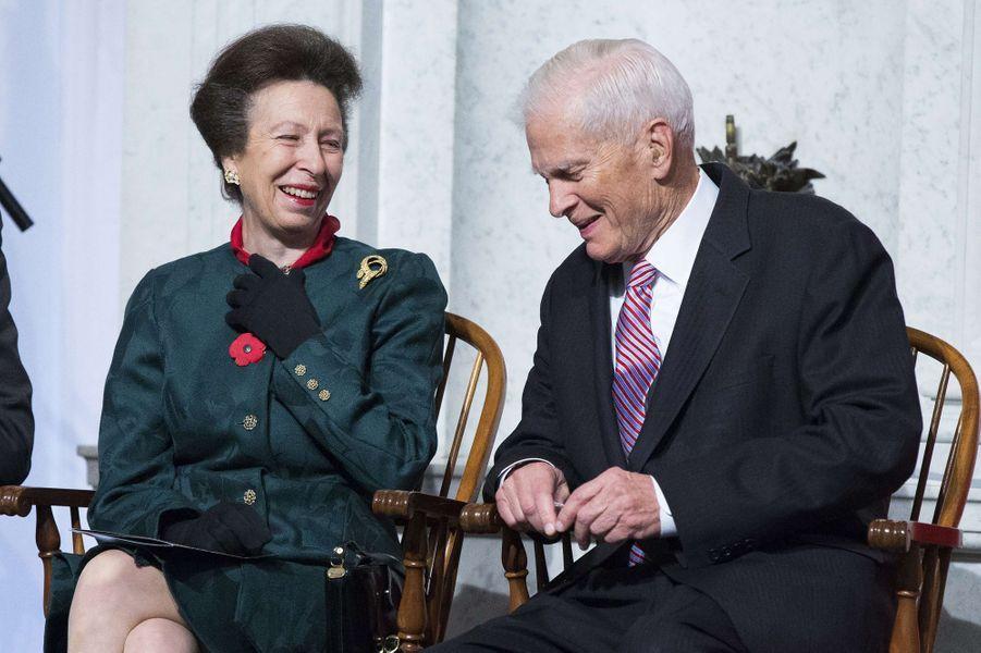La princesse Anne d'Angleterre à la Bibliothèque du Congrès à Washington, le 6 novembre 2014