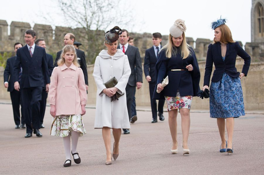 La famille royale à Windsor, le 5 avril 2015