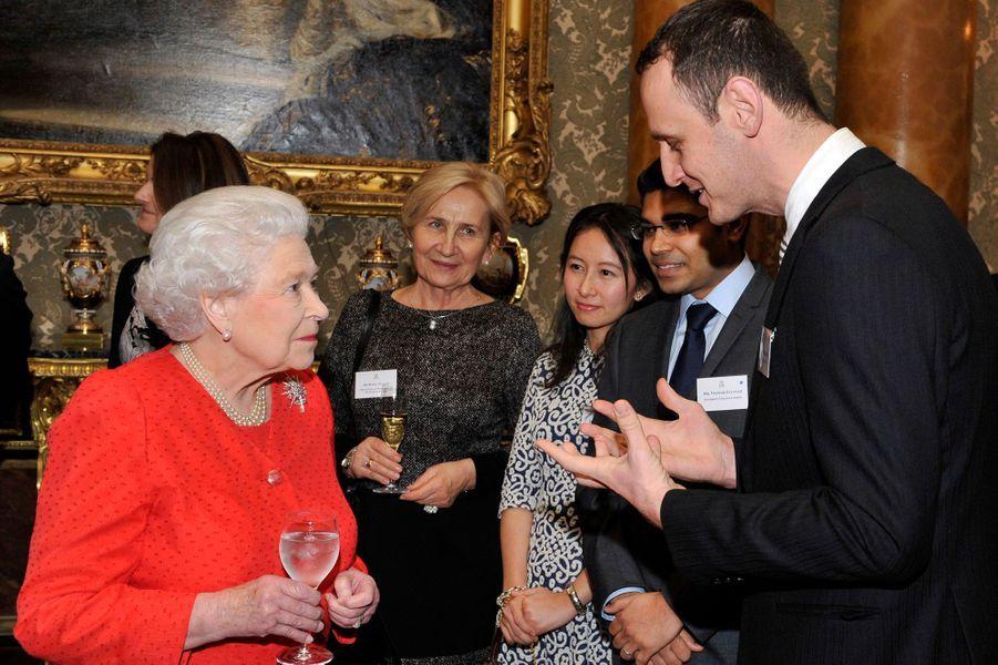 La reine Elizabeth II à Buckingham palace à Londres, le 23 février 2015