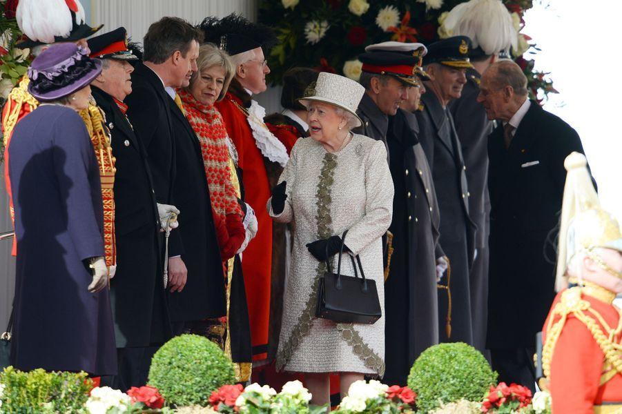 La reine Elisabeth II et le duc d'Edimbourg à Londres, le 3 mars 2015