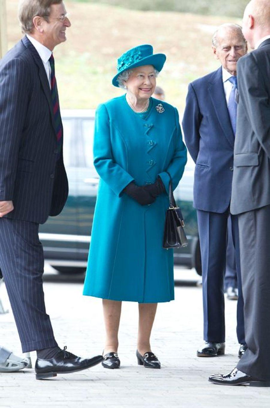 La reine Elizabeth II et le prince Philip à Guildford, le 15 octobre 2015