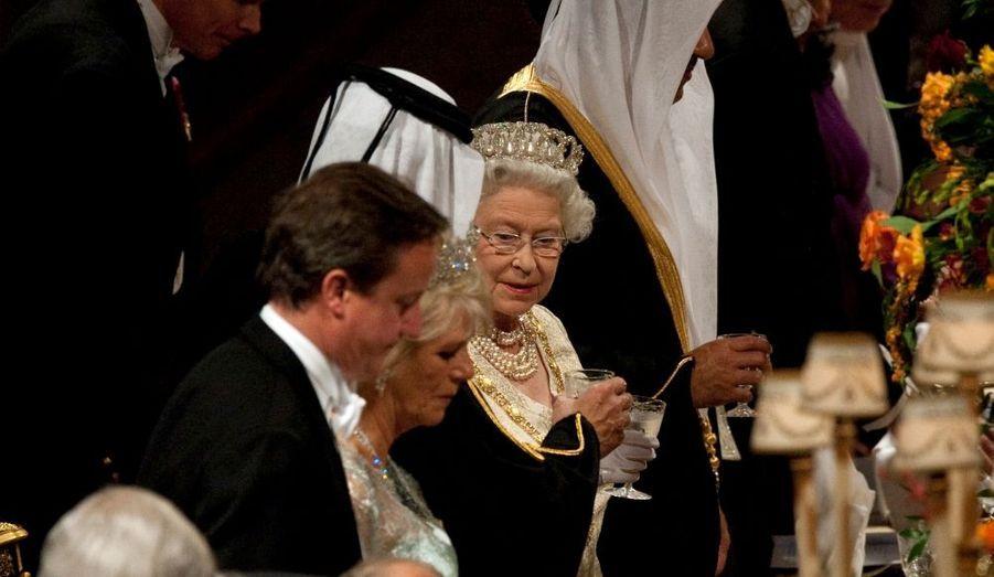 Au premier plan, David Cameron.