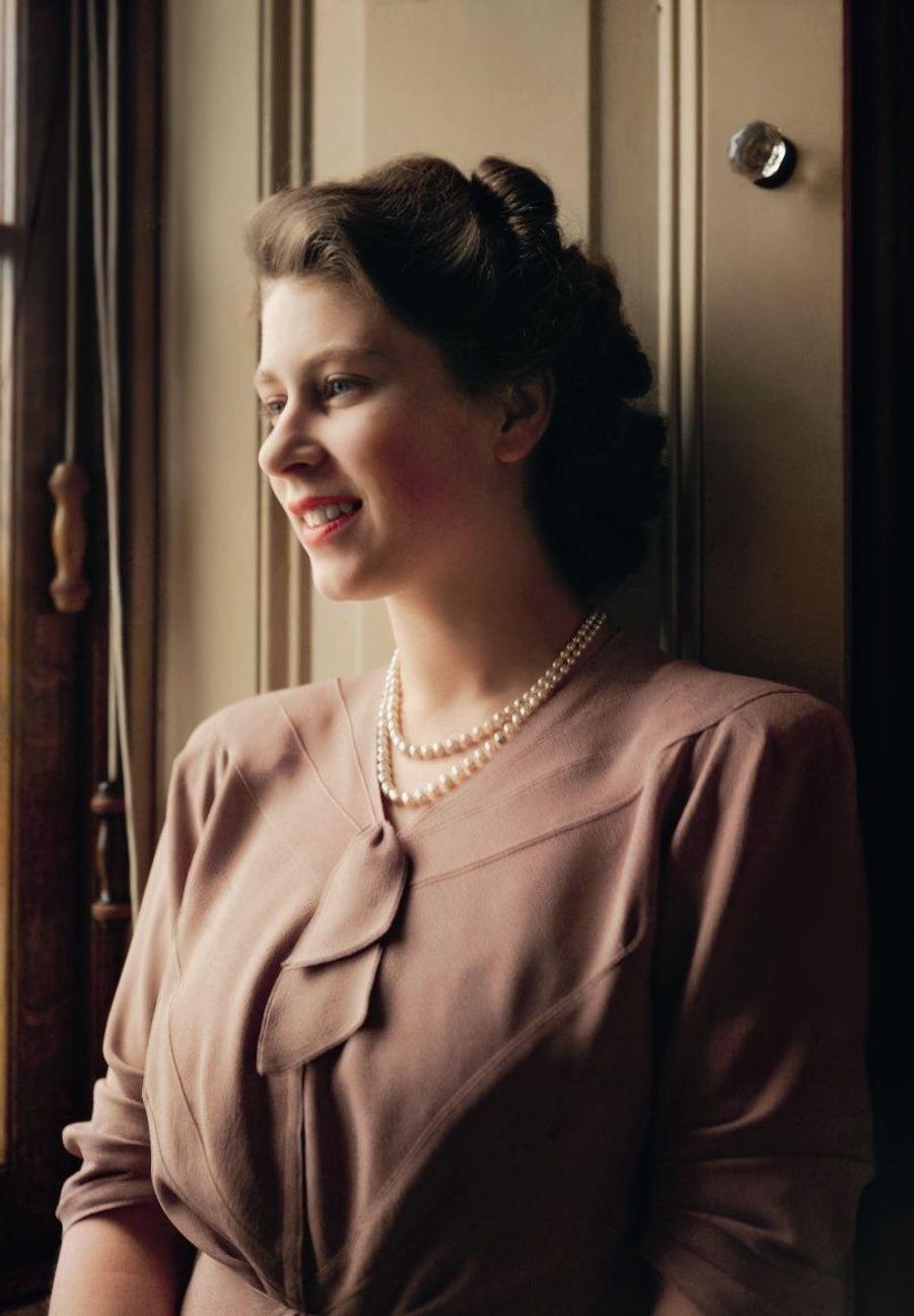 La princesse Elizabeth à 20 ans, Buckingham Palace, 1950