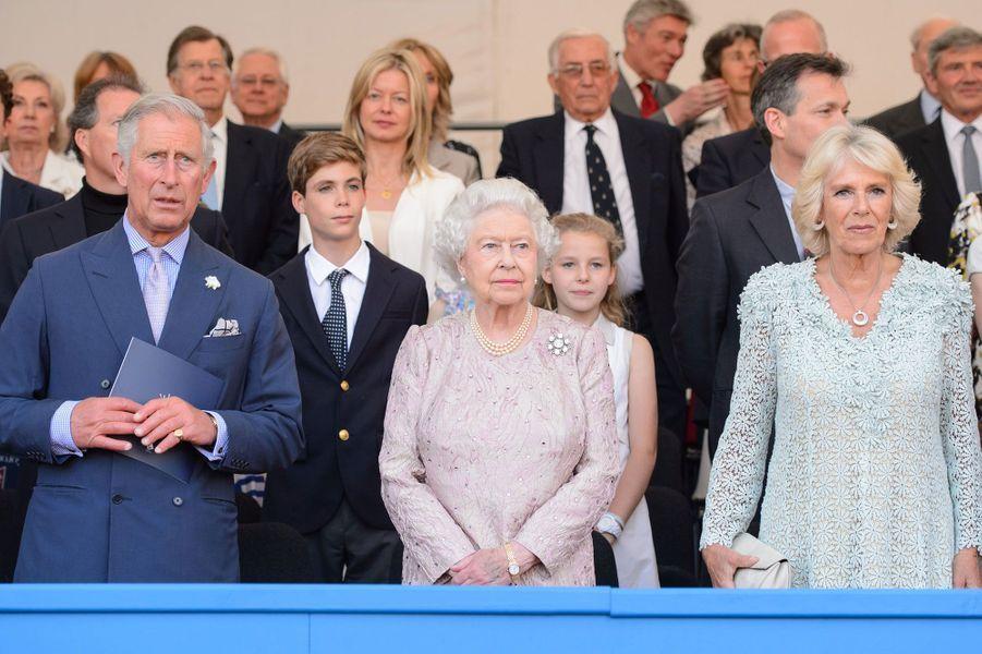 Elizabeth II, Charles et Camilla