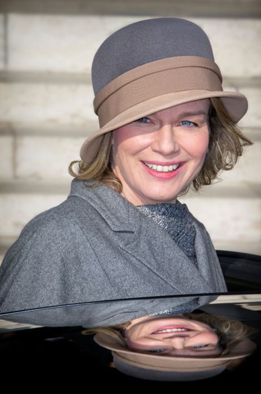 La reine Mathilde de Belgique à la cérémonie annuelle pour les défunts royaux à Laeken, le 12 avril 2015