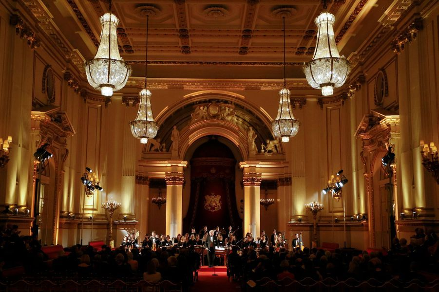 Concert de de l'Opéra d'Australie et du Royal College of Music dans la salle de bal de Buckingham Palace, le 22 janvier 2015