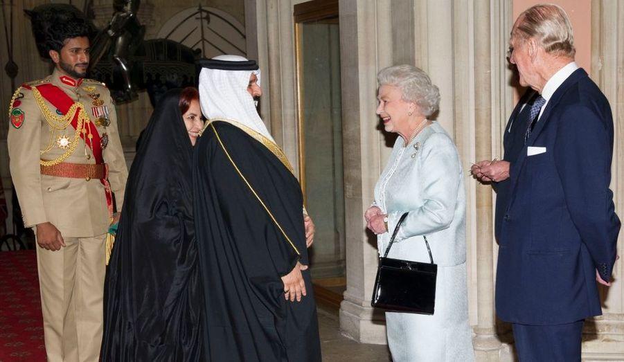 Avec le roi du Bahreïn