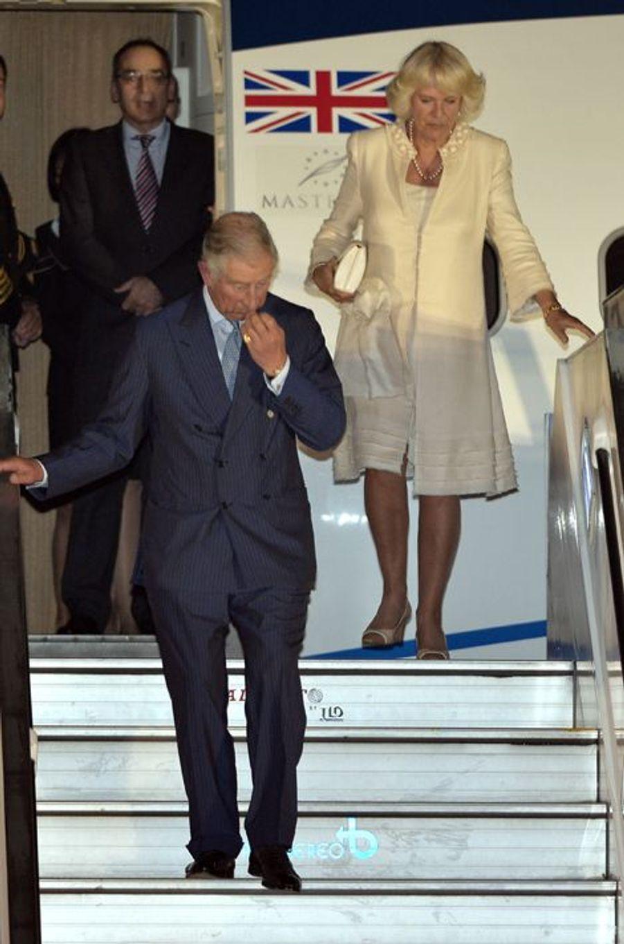 Le prince Charles et Camilla Parker-Bowles en voyage officiel à Bogota, le 28 octobre 2014