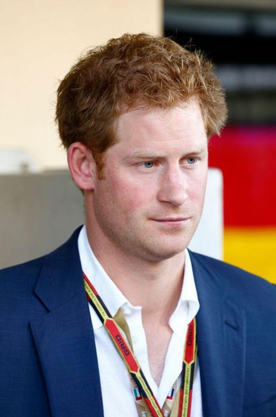 Le prince Harry au Grand Prix de Formule 1 à Abou Dhabi, le 23 novembre 2014