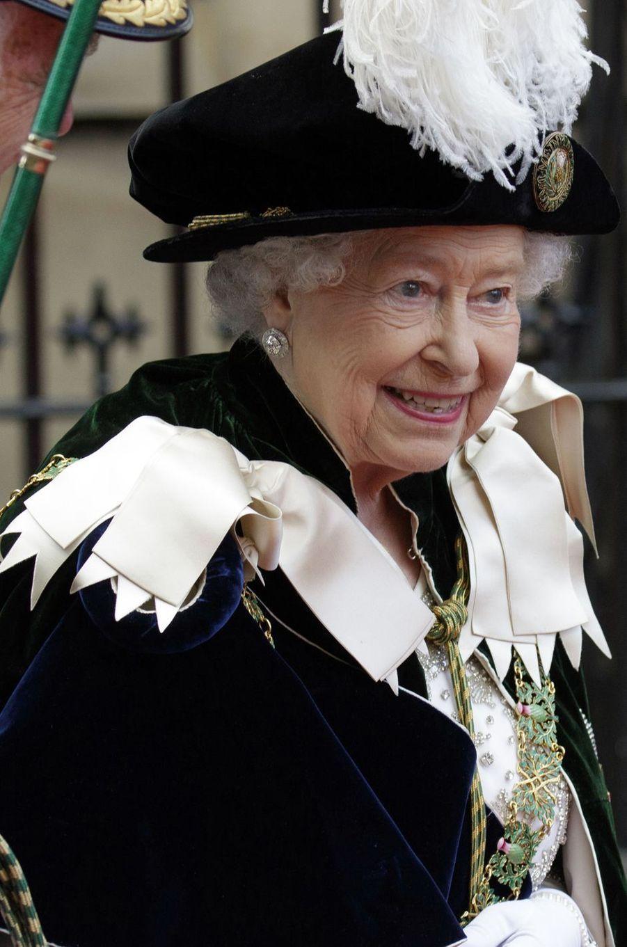 La reine Elizabeth II à Edimbourg, le 7 juillet 2016