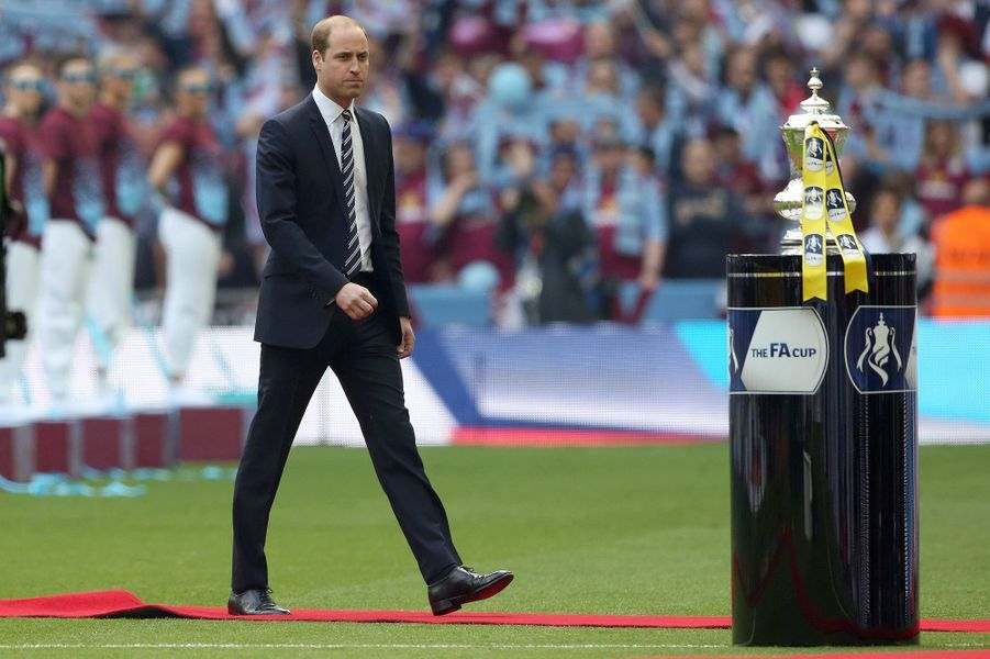 Le prince William à la finale de la Coupe d'Angleterre de football à Wembley, le 30 mai 2015