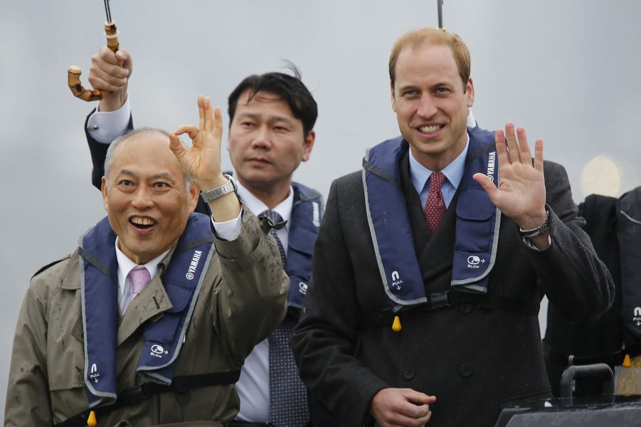 Le prince William en visite au Japon