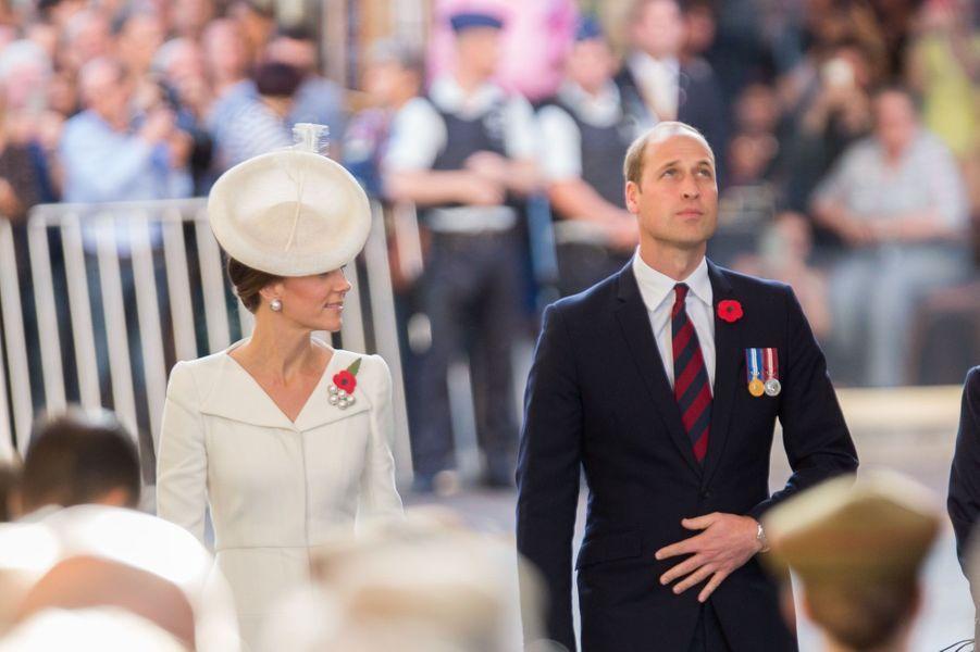 Le prince William et de la princesse Kate en Belgique pour honorer la mémoire des victimes de la bataillePasschendaele, un des pires et plus absurdes carnages de la Grande Guerre, en Flandre-Occidentale (nord-ouest de la Belgique).