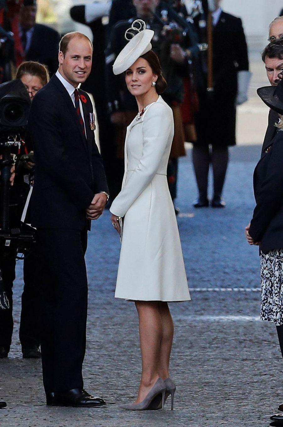 Kate Middleton à Ypres en Belgique le 30 juillet 2017