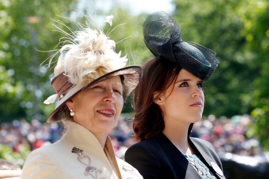 La princesse Anne et la princesse Eugenie d'York à Ascot, le 18 juin 2015