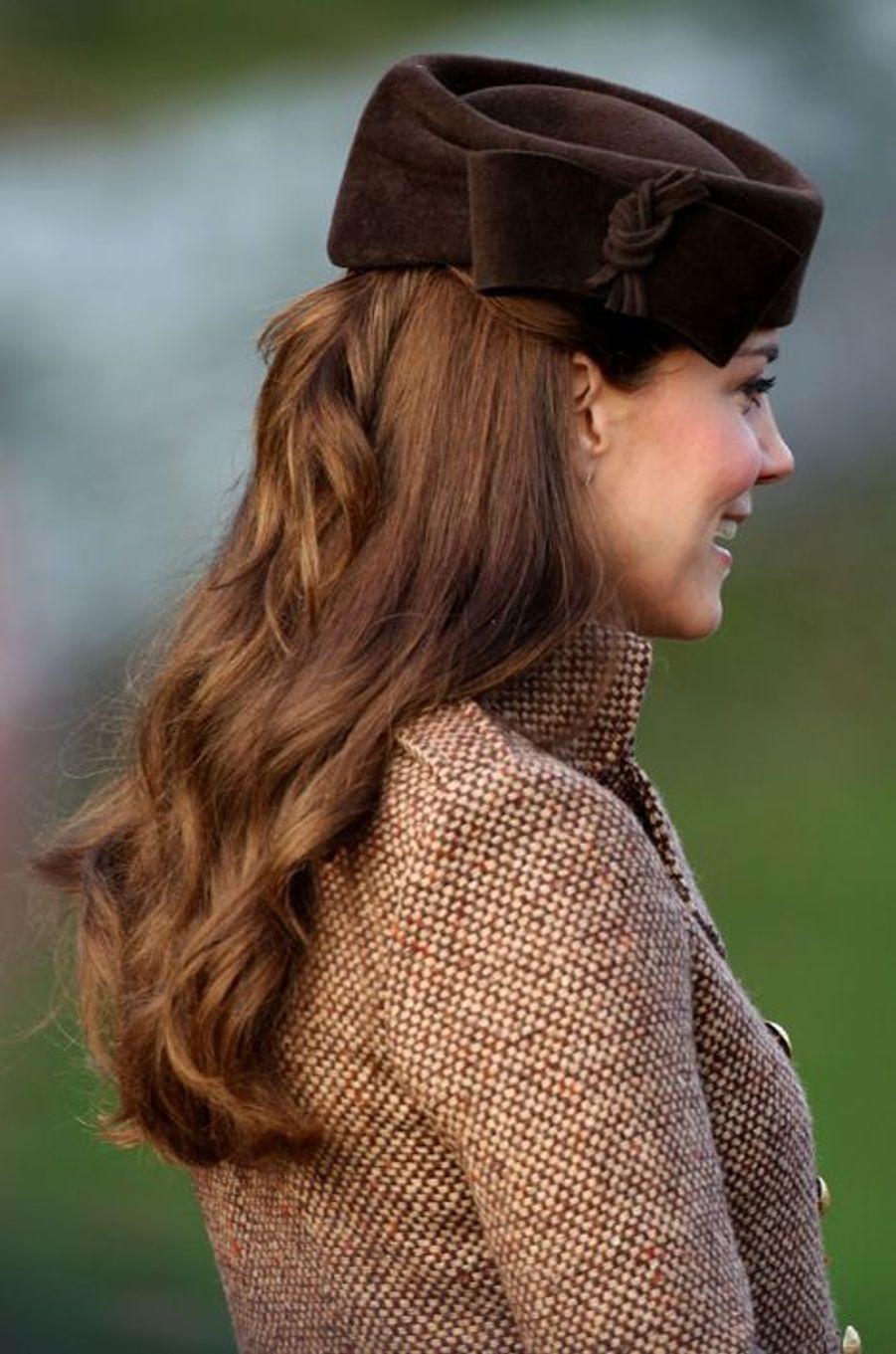 Kate, la duchesse de Cambridge à Sandringham, le 25 décembre 2014