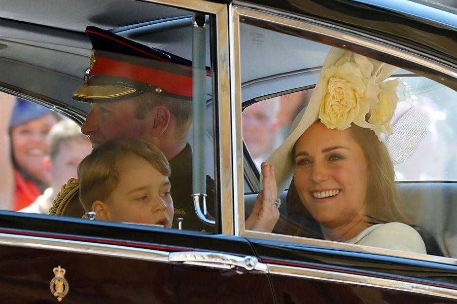 George et Charlotte à l'honneur au mariage de Meghan et Harry, le 19 mai 2018.