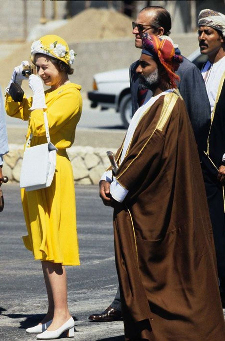 Elizabeth II à Oman en 1979 Oman