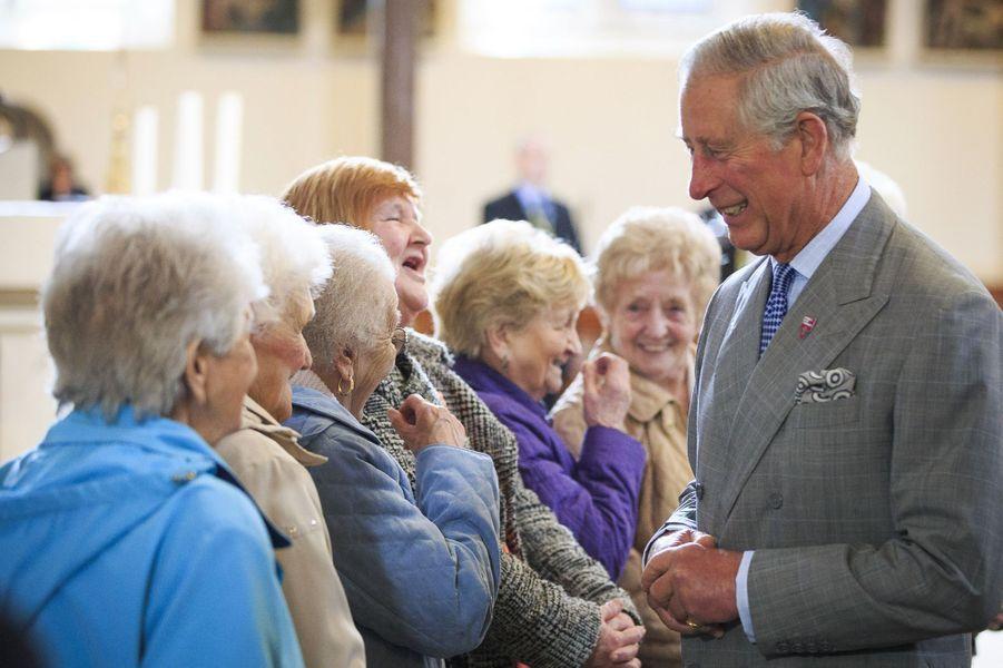 le prince Charles et son épouse Camilla à Belfast, jeudi.