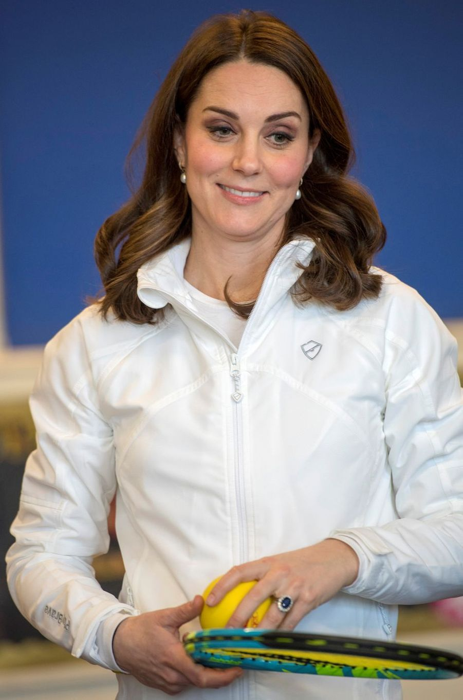 La duchesse Catherine de Cambridge, avec sa bague de fiançailles, le 17 janvier 2018