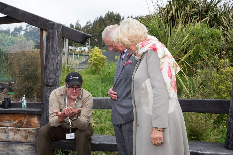 Le prince Charles et Camilla à l'écosanctuaire de Orokonui près de Dunedin, le 5 novembre 2015