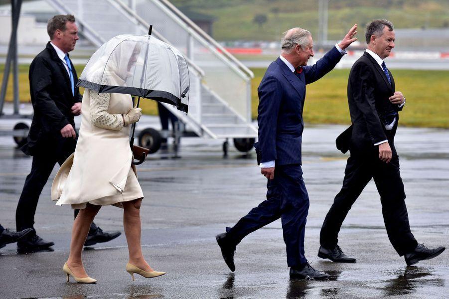 Le prince Charles et la duchesse de Cornouailles Camilla à Wellington, le 4 novembre 2015