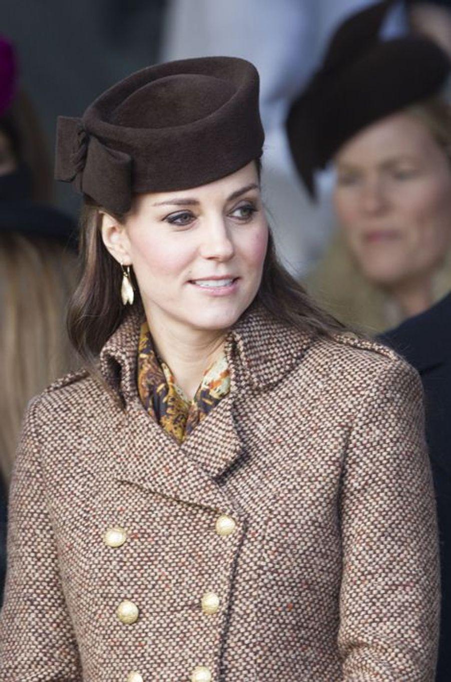 N°2 Kate, la duchesse de Cambridge. Ici à Sandringham, le 25 décembre 2014