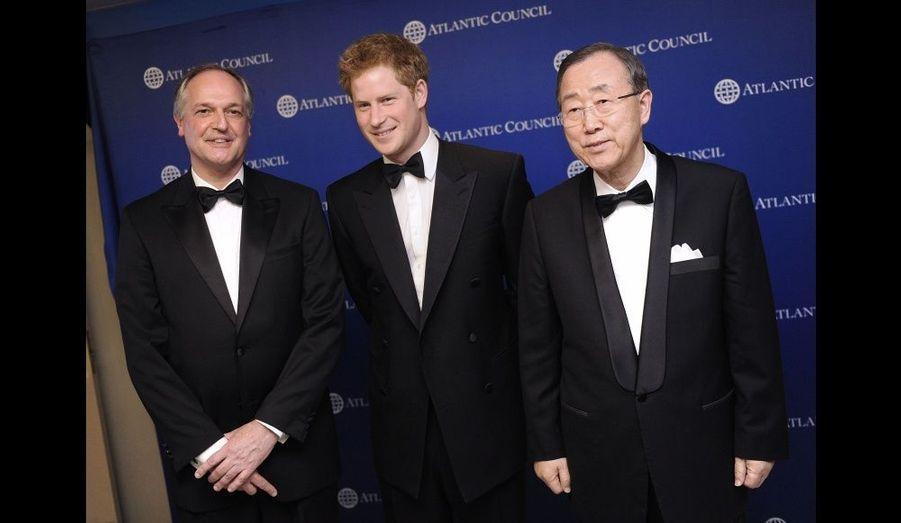 Avec le secrétaire général de l'ONU, Ban Ki-moon, et Fredrick Kempe.