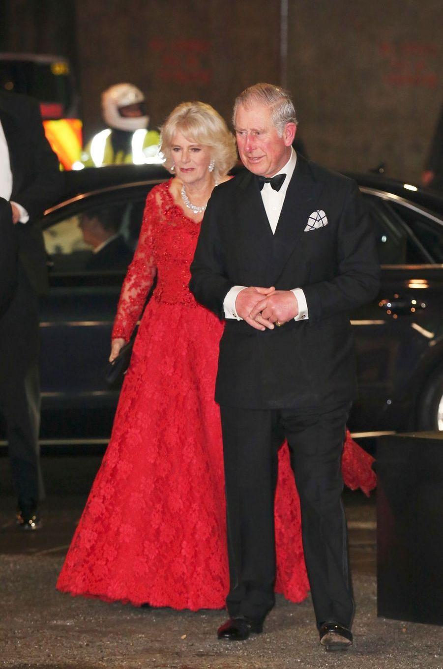 Le prince Charles et la duchesse de Cornouailles Camilla à Londres, le 6 décembre 2016