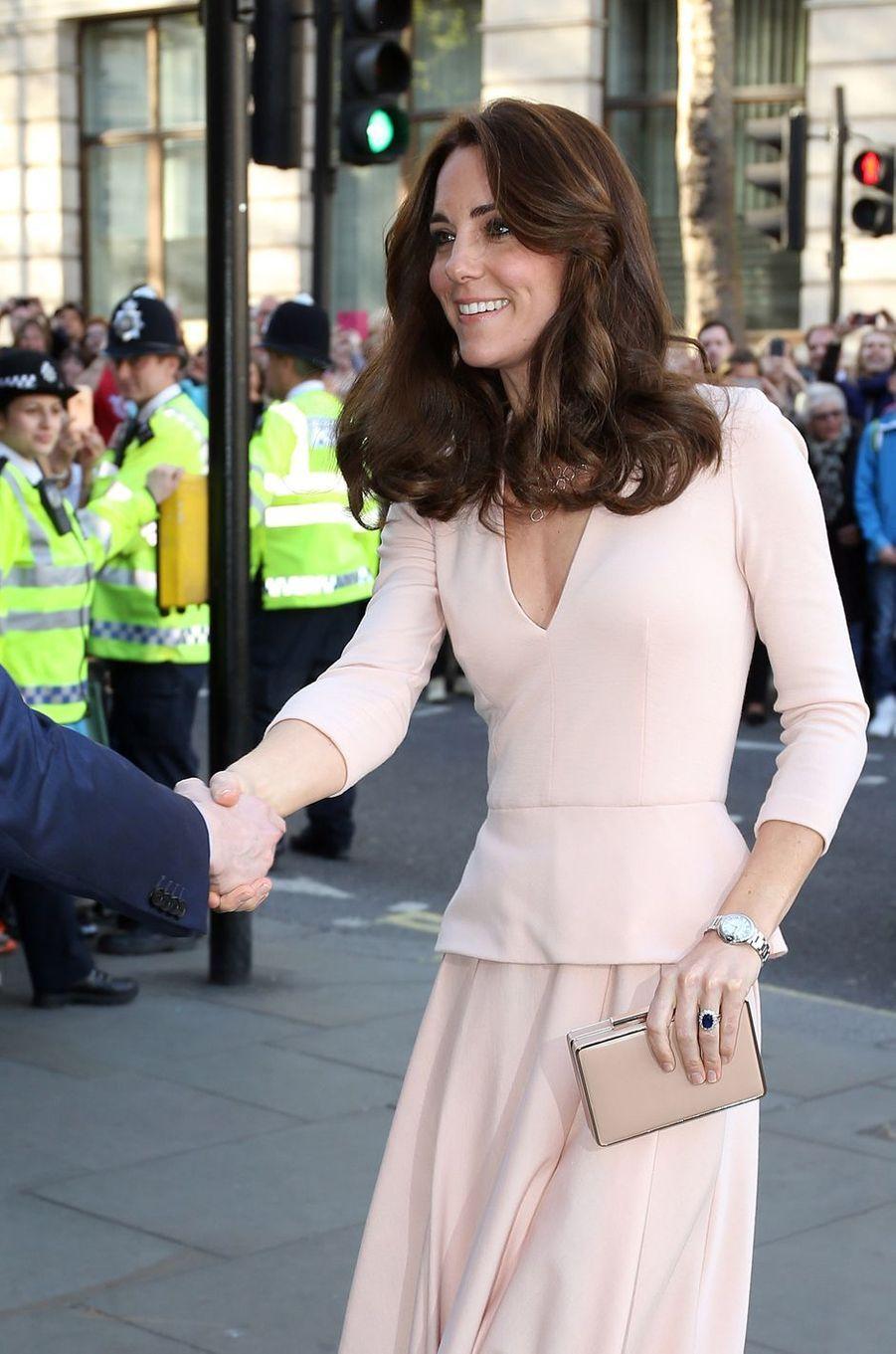 La duchesse Catherine de Cambridge à Londres, le 4 mai 2016