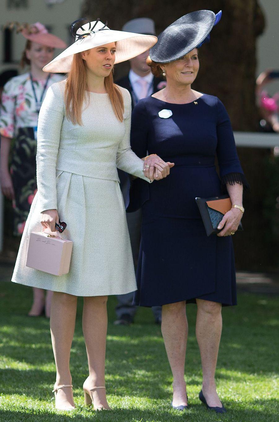 La princesse Beatrice d'York et Sarah Ferguson au Royal Ascot, le 22 juin 2018