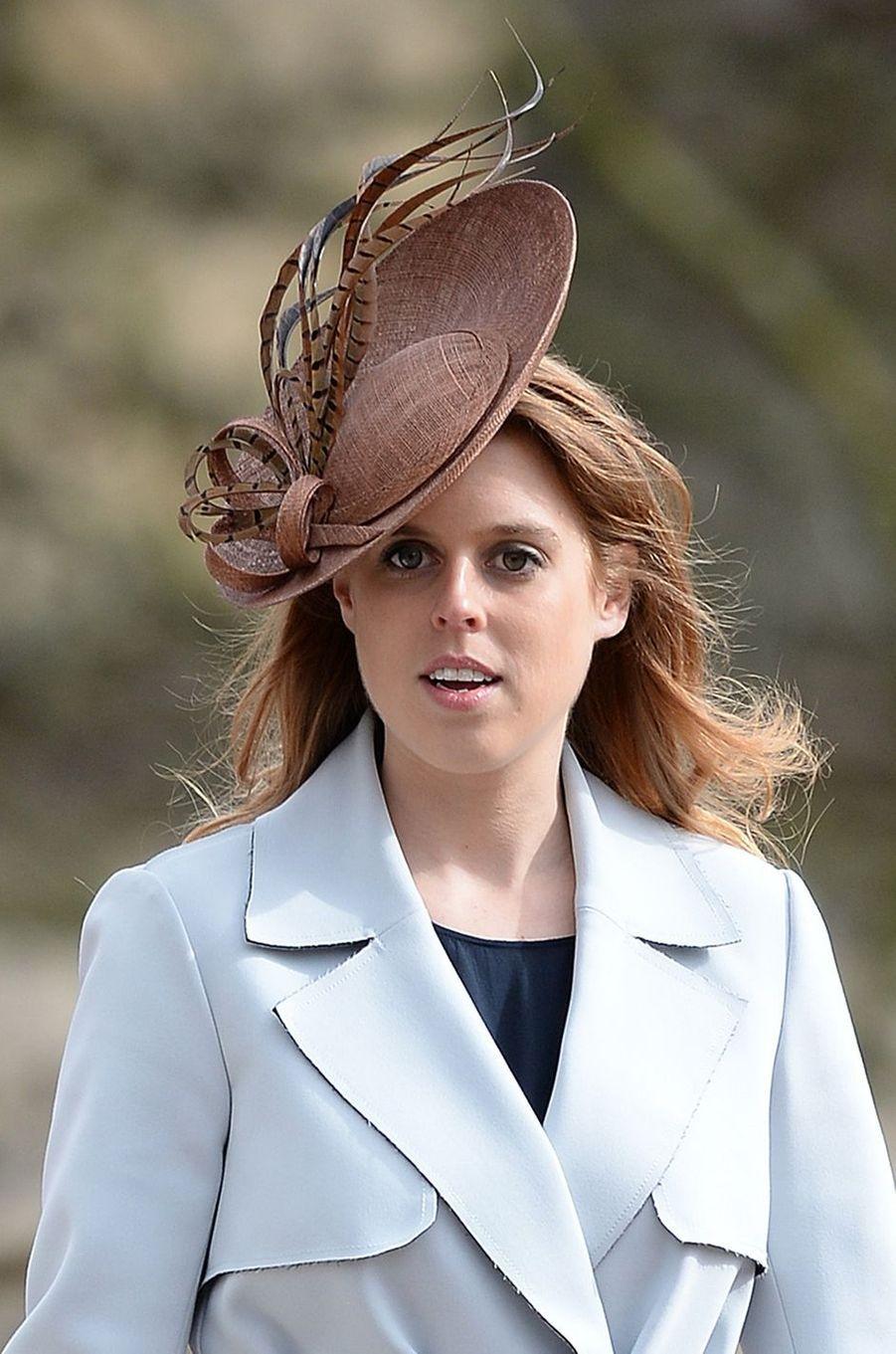 La princesse Beatrice d'York à Londres, le 27 mars 2016