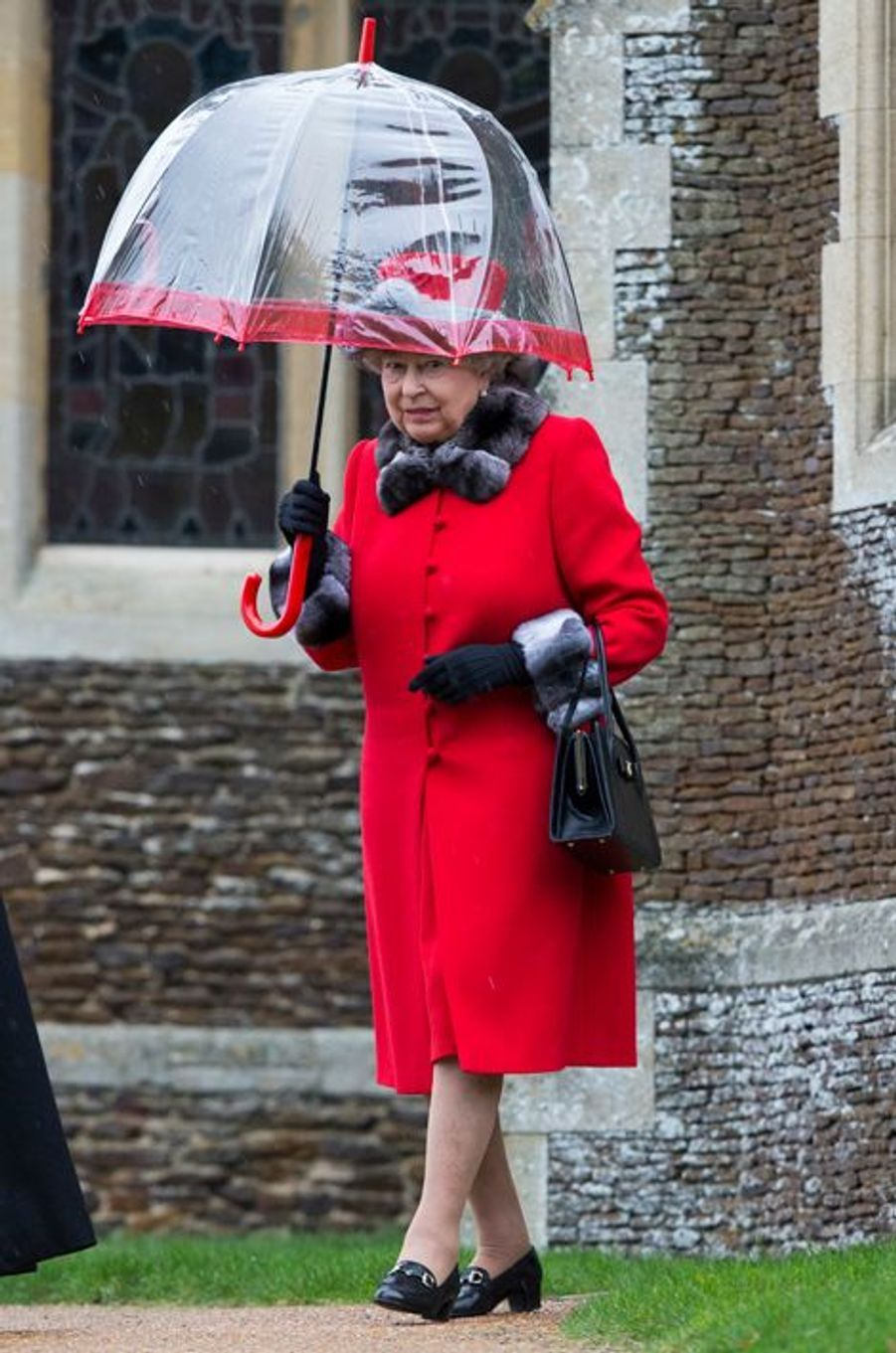 La reine Elizabeth II à Sandringham, le 25 décembre 2015
