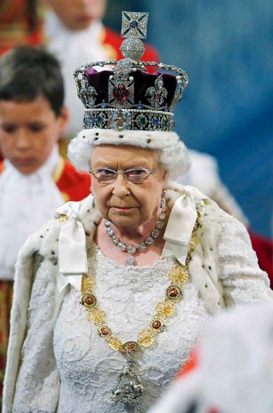 La reine Elizabeth II au Parlement à Londres, le 27 mai 2015