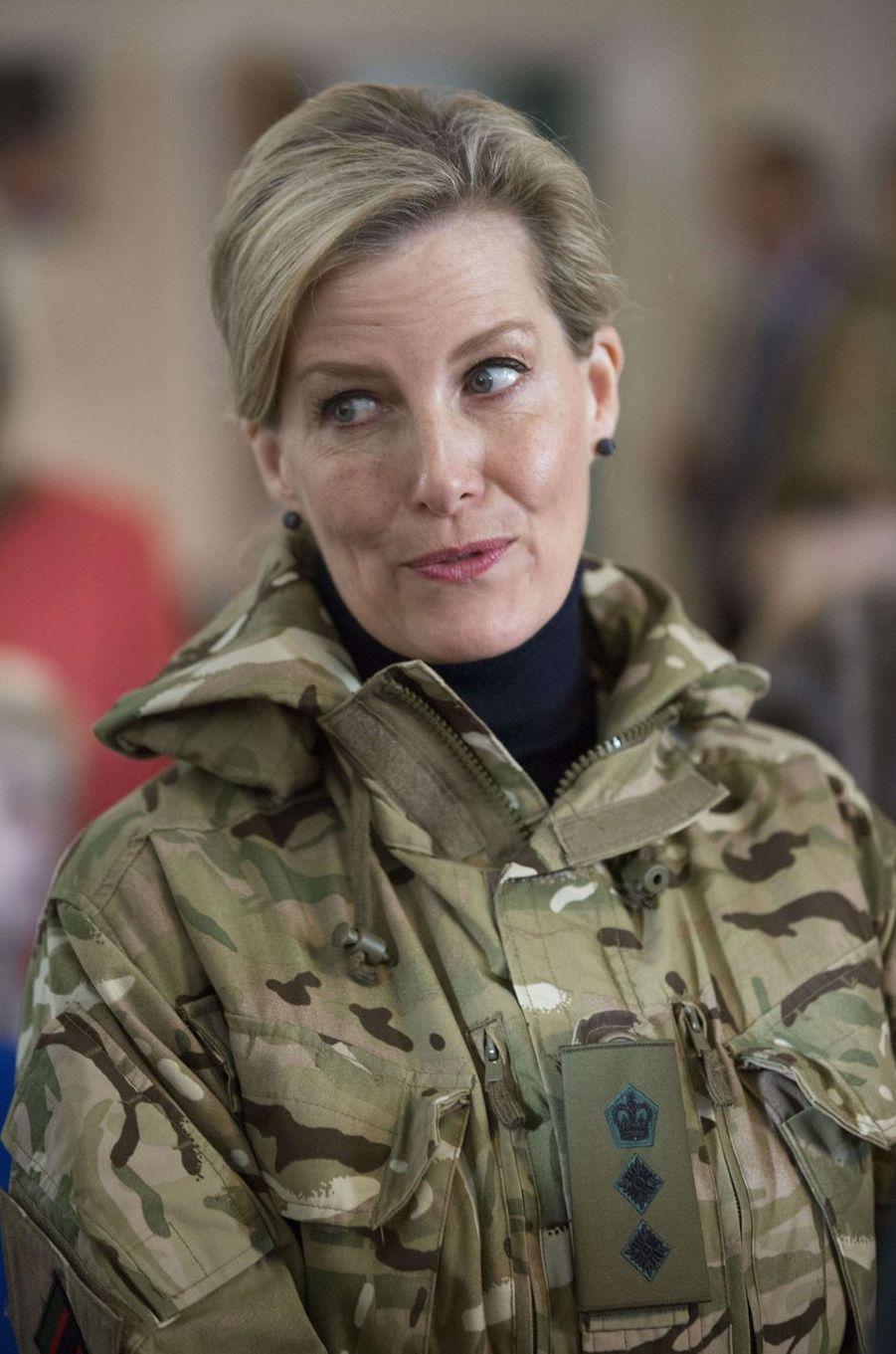 La comtesse Sophie de Wessex au Bulford Camp, le 11 janvier 2017