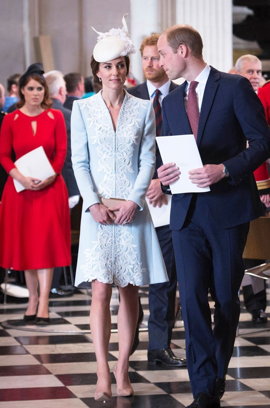 La duchesse Catherine de Cambridge avec le prince William à Londres, le 10 juin 2016
