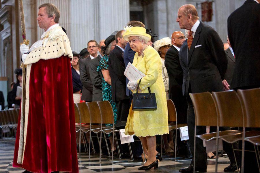 La reine Elizabeth II et le prince Philip à Londres, le 10 juin 2016